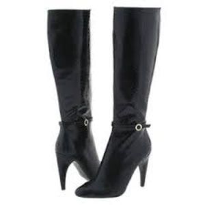 Sam Edelman black boa leather style boots